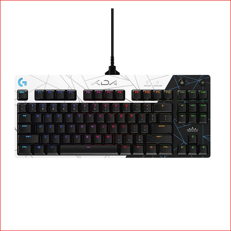 Ban Phim Gaming Logitech Pro KDA USBRGBDen TrangGX Brown SW