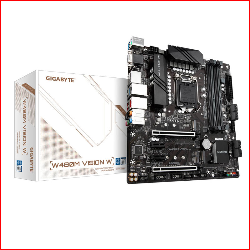 Mainboard Gigabyte W480M Vision W W480Socket 1200mATX 1