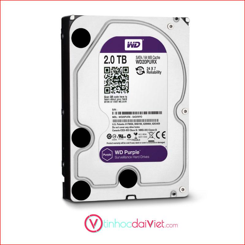 O Cung WD Purple 2TB WD20PURZ Sata III64MB5400RPM 2