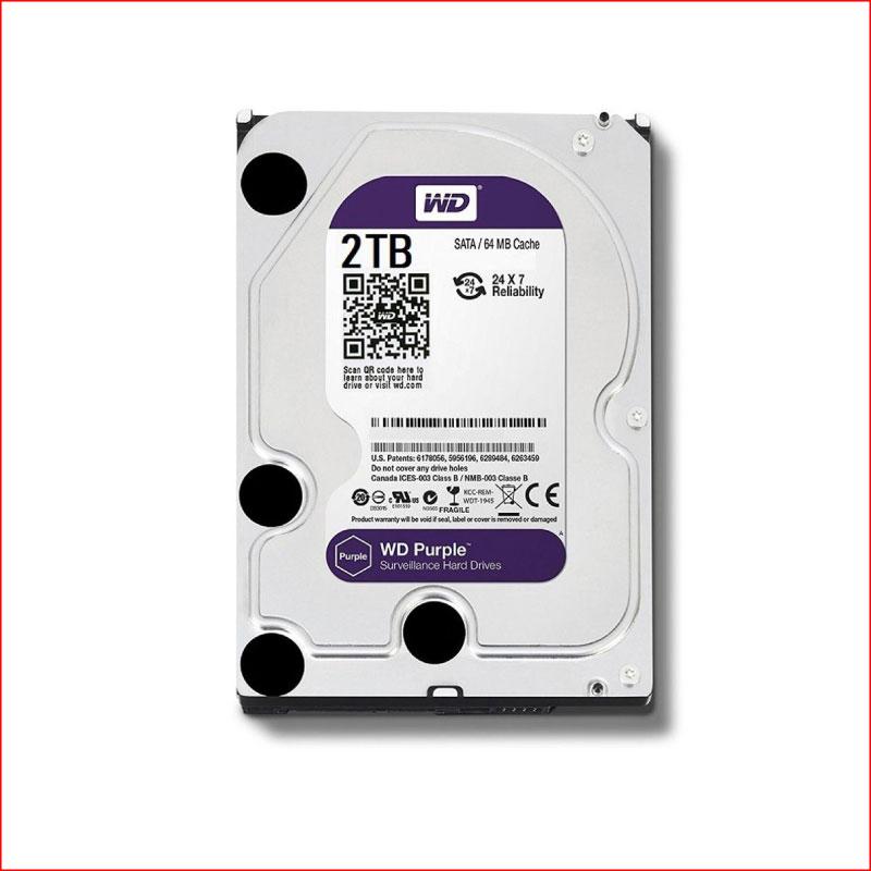 O Cung WD Purple 2TB WD20PURZ Sata III64MB5400RPM