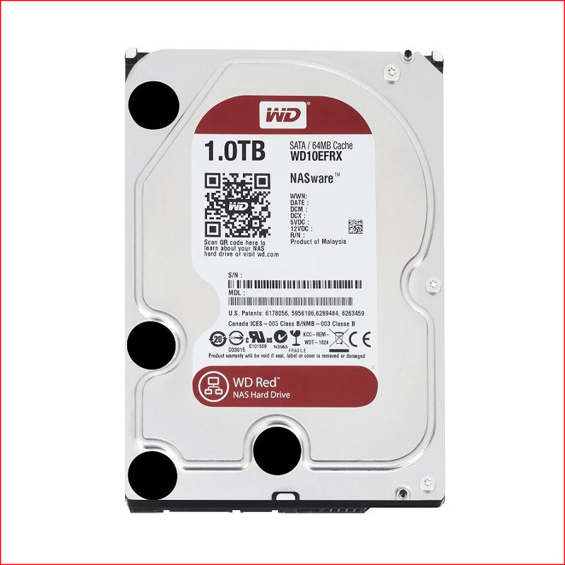 O Cung WD Red 1TB WD10EFRX Sata III64MB5400RPM