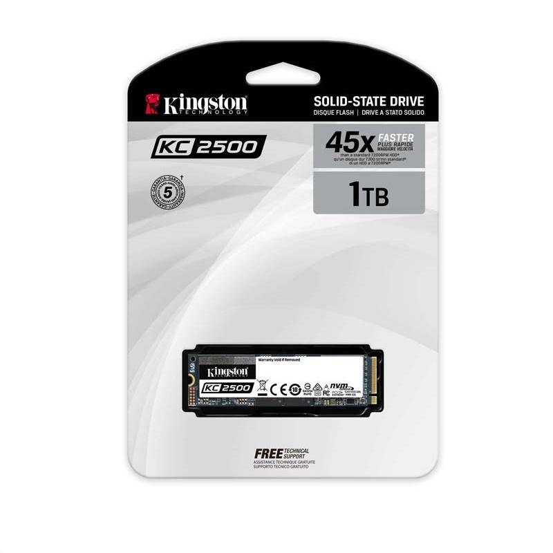 SSD Kingston KC2500 1TB NVMe PCLe Gen 3 x 4 M.23D NAND3500MBS